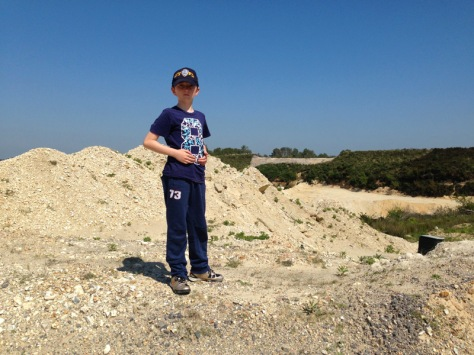 I'm the king of the quarry!