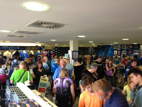 Dr Who merchandise and memorabilia - as far as the eye can see