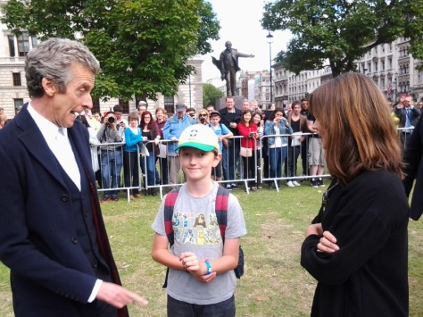 The Doctor with his TWO companions!