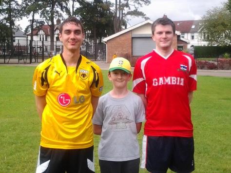 George and Dan - my humble football team mates.