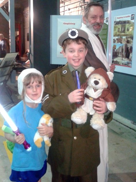 Here's Sergeant Benton and Finn - and Obear Wan Keno Bear and a Jedi Knight.
