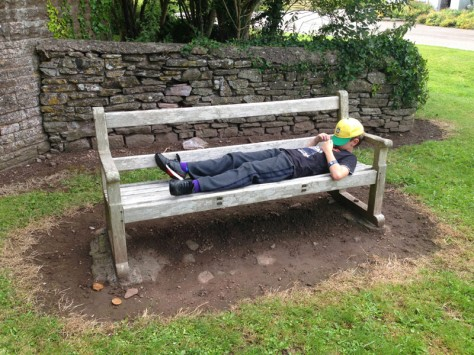 Trying out a bench....