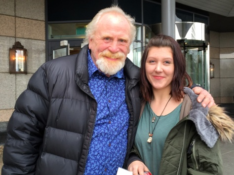 James Cosmo - Jeor Mormont from Game of Thrones with one of my companions.