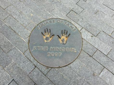 Kylie Minogue WEmbley Arena handprints