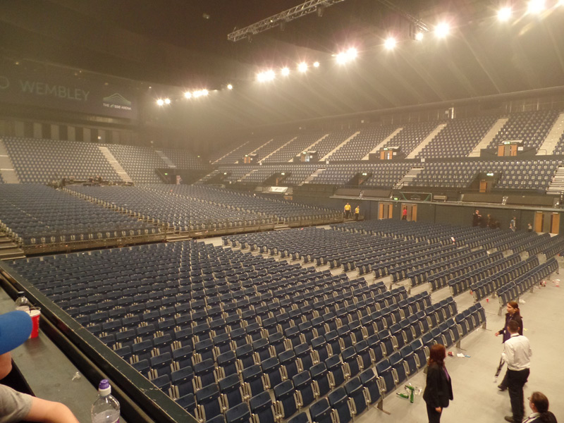 Empty Wembley Arena