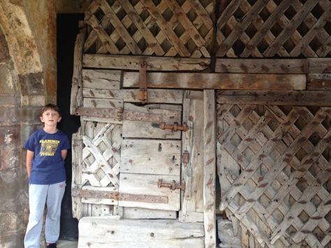 Chepstow Castle doors