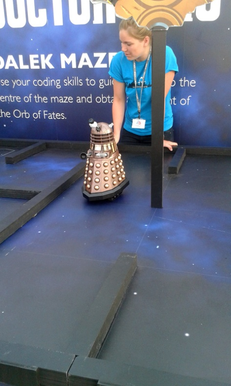 Programming a dalek at Make it Digital tour
