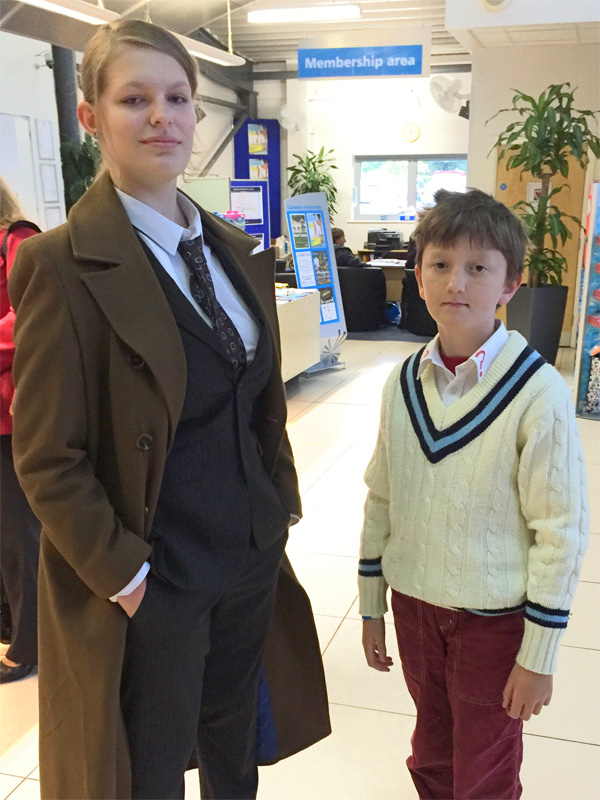 Tenth and Fifth Doctor Cosplay