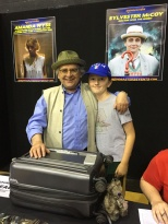 Tom with Sylvester McCoy