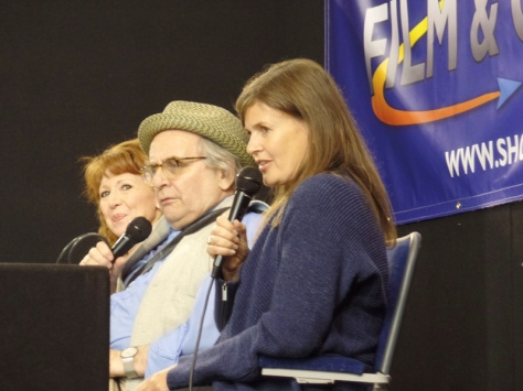 Bonnie Langford, Sylvester McCoy and Sophie Aldred at Film & Comic Con Bournemouth