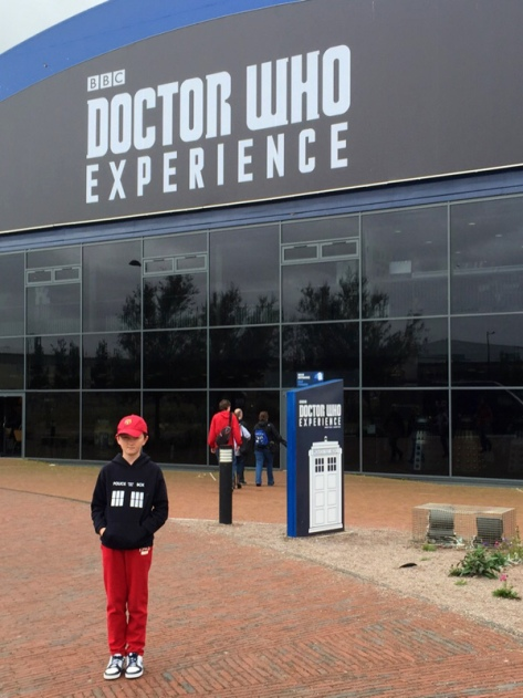 Tom outside the Doctor Who Experience
