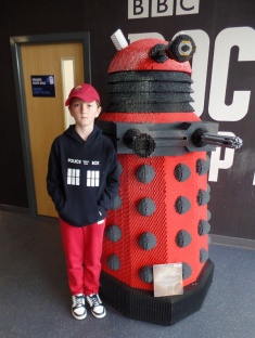 Tom and a Dalek at the Doctor Who Experience