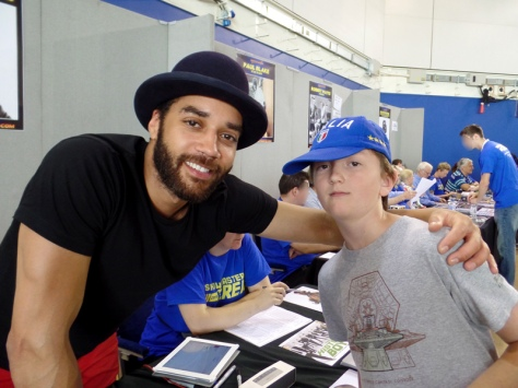 Tom and Samuel Anderson at Film & Comic Con Bournemouth