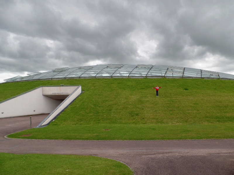 Outside the Great Glasshouse at the National Botanic Garden of Wales