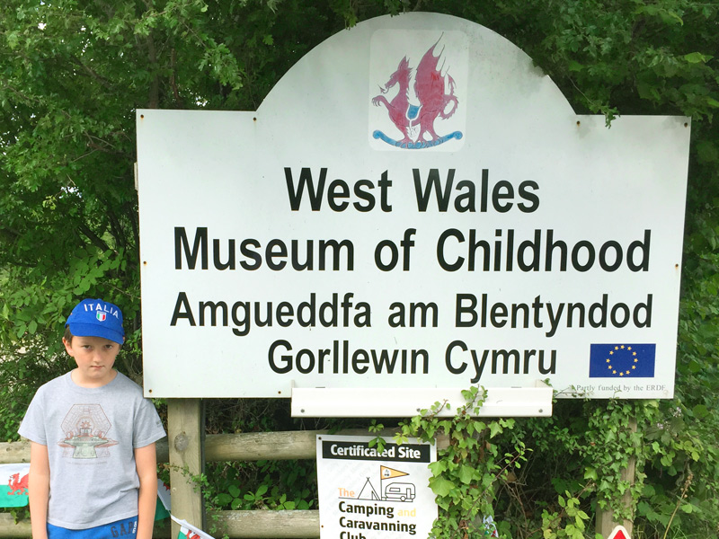 The entrance to the West Wales Museum of Childhood