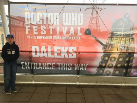 Entrance to the Doctor Who Festival, London Excel