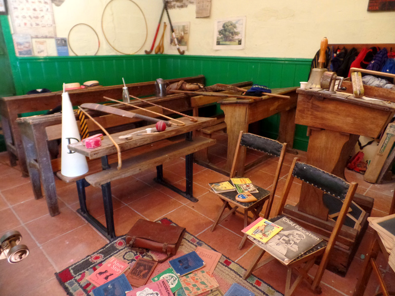 The school room at West Wales Museum of Childhood
