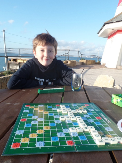 Scrabble on the Deck Level at No Man's Fort