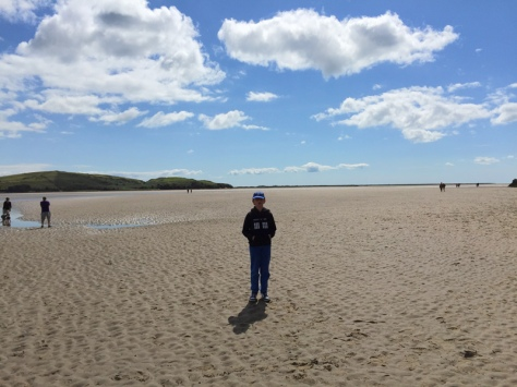The beach at Portmeirion is the estuary of the River Dwyryd.