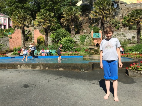 Paddling at Portmeirion