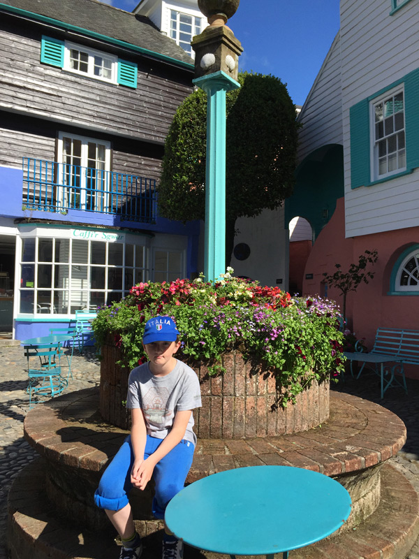 Tom in Battery Square in Portmeirion