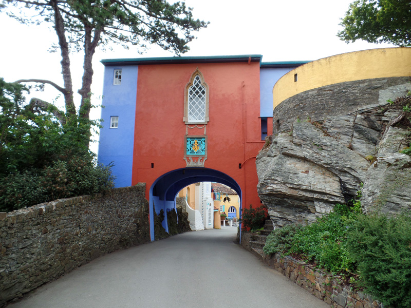 The entrance archway to Portmeirion.