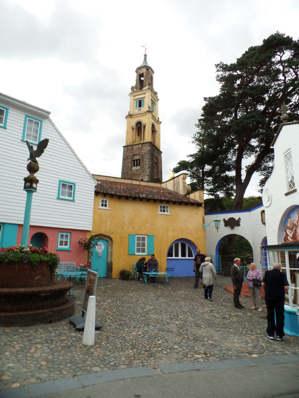 The Bell Tower above Battery Square in Portmeirion
