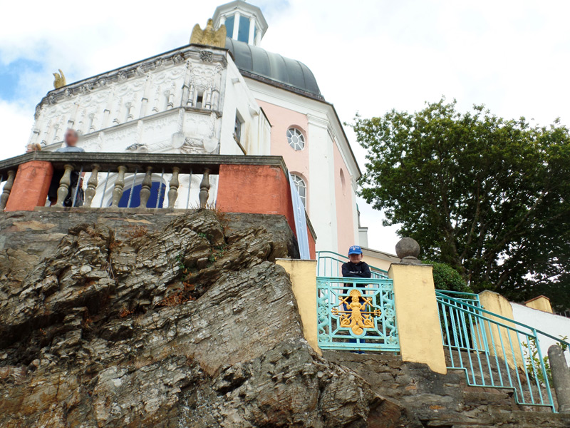 Outside the Pantheon at Portmeirion