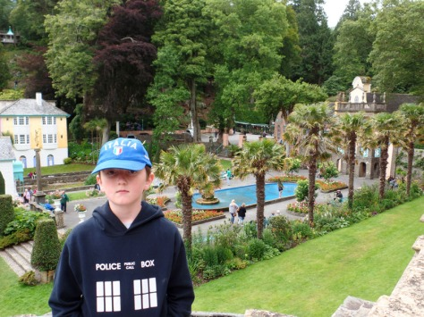 Tom Project Indigo at Doctor Who filming location Portmeirion
