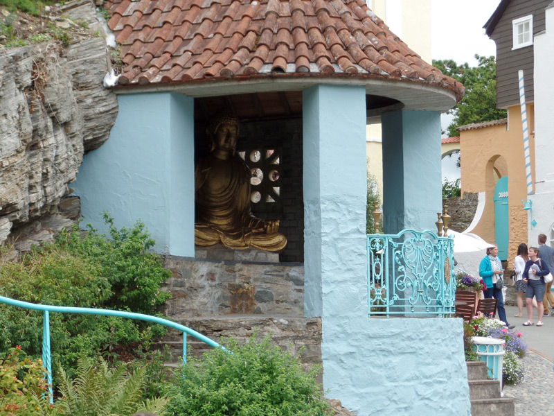 The Loggia with the hidden Buddha at Portmeirion