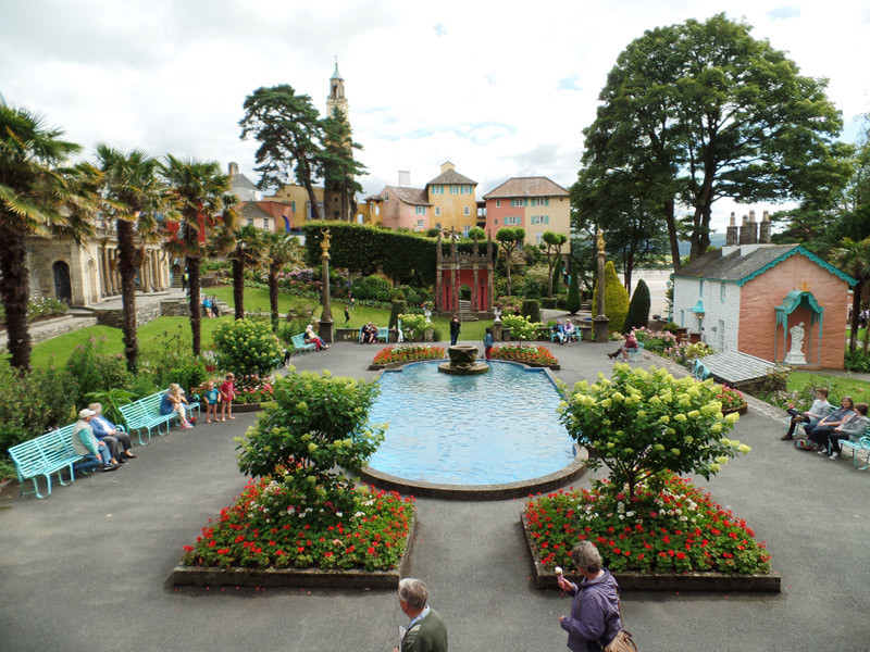 The Central Piazza at Portmeirion