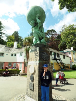 Hecules statue at Portmeirion