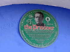 The Prisoner plaque in Portmeirion