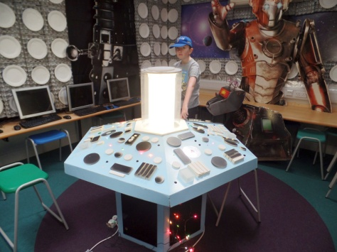 The Console at Dunbury Academy TARDIS