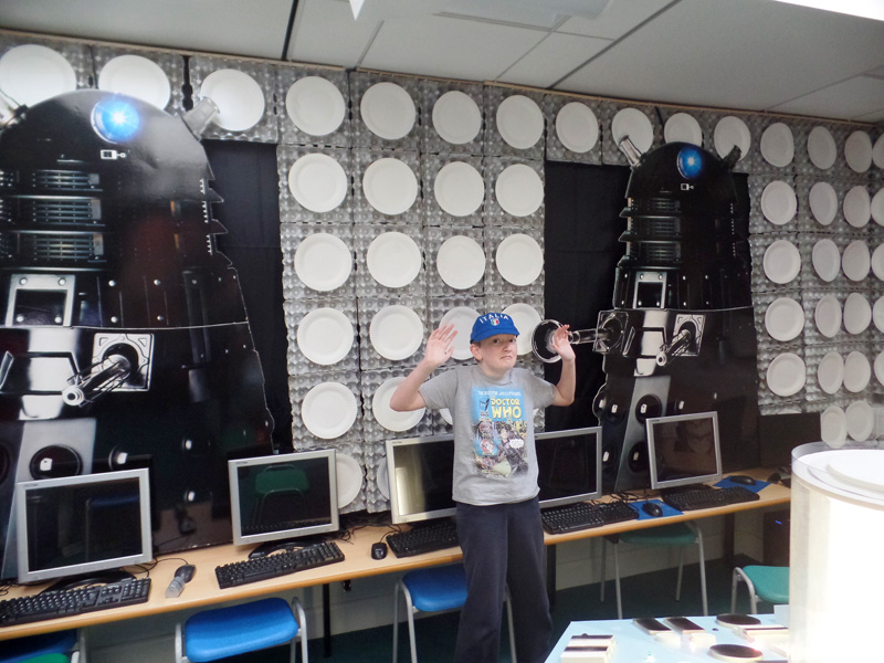 Daleks attack at Dunbury Academy TARDIS!