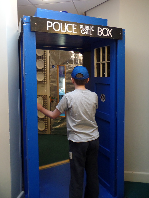 Entering the Dunbury Academy TARDIS