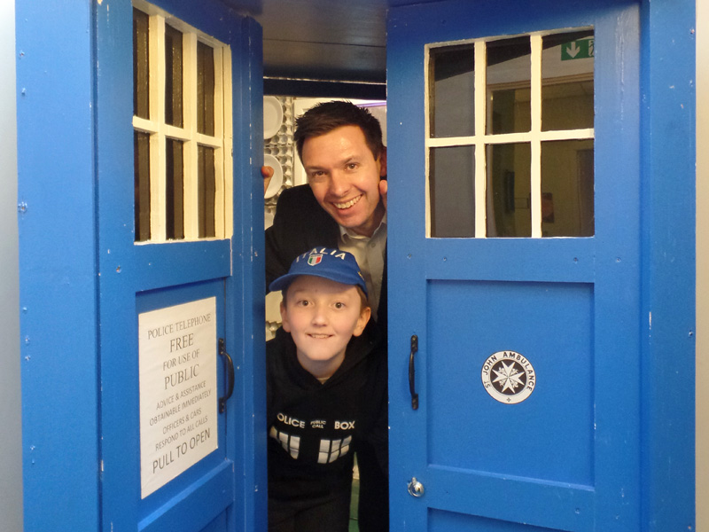 The entrance of Dunbury Academy TARDIS