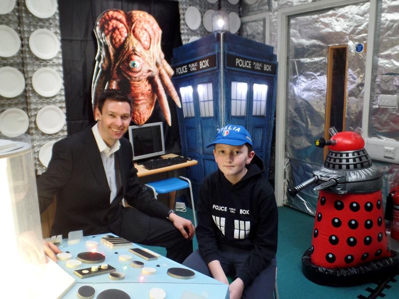 Mr Payne in Dunbury Academy TARDIS