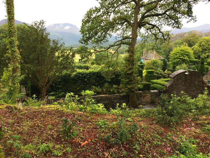 Overview of Plas Brondanw Gardens