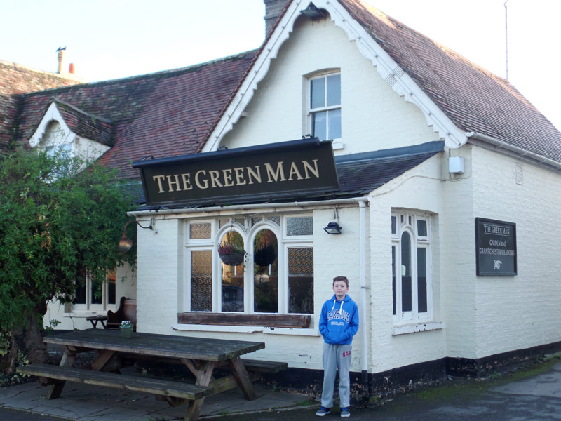 The Green Man Doctor Who filming location Grantchester