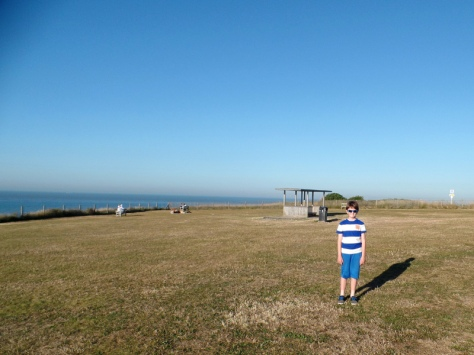 Above Botany Bay beach in Kent