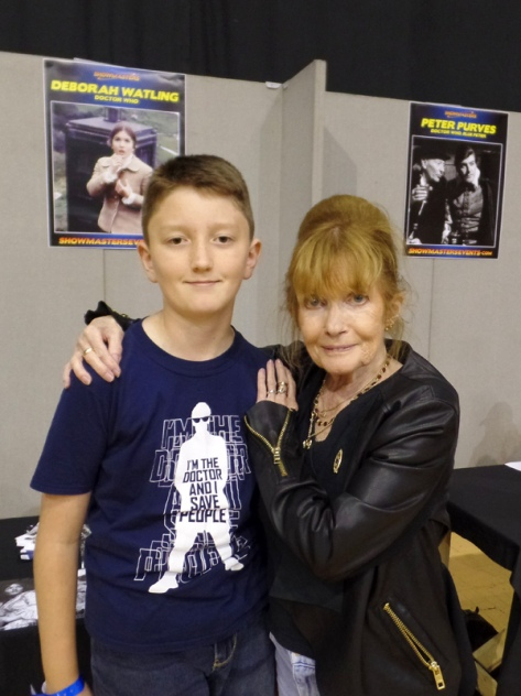 Tom Project Indigo meets Deborah Watling from Doctor Who at Film & Comic Con Bournemouth