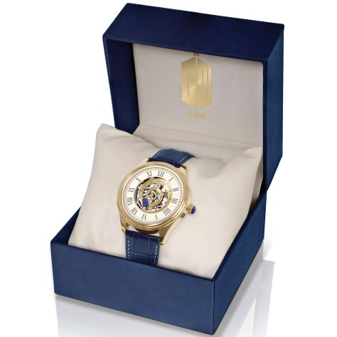 The Doctor Who Time Vortex Mechanical Watch by The Bradford Exchange in a presentation box