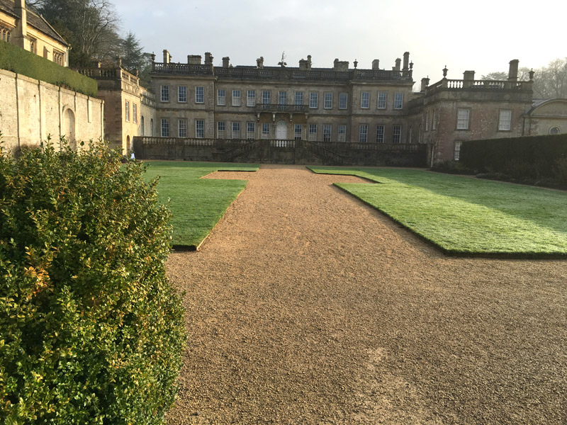 Dyrham Park viewed from the garden