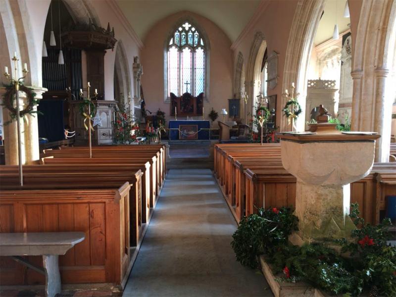 Inside St Peter's Church at Dyrham