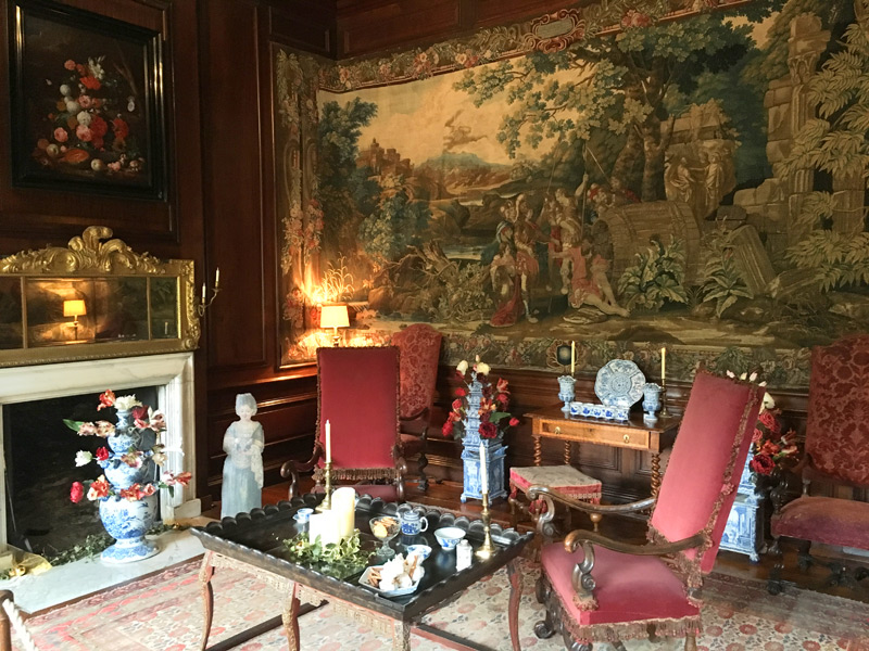 Exploring Mr Blathwayt's apartment at Dyrham Park