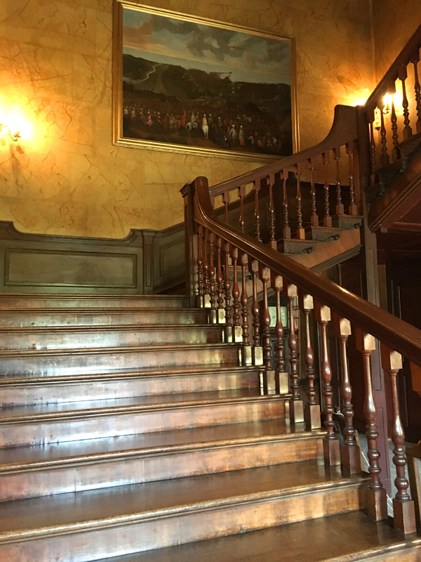 Staircase at Dyrham Park, Doctor Who The Night Terrors filming location